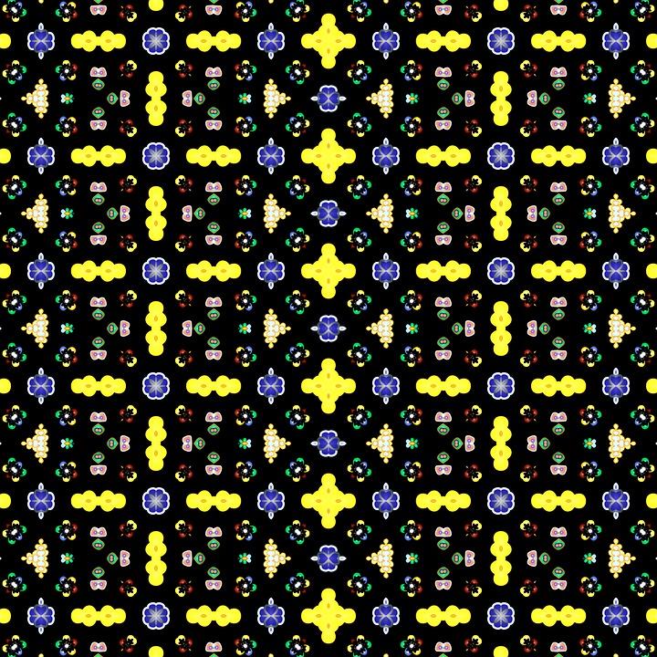 Pattern, Black Background, Texture