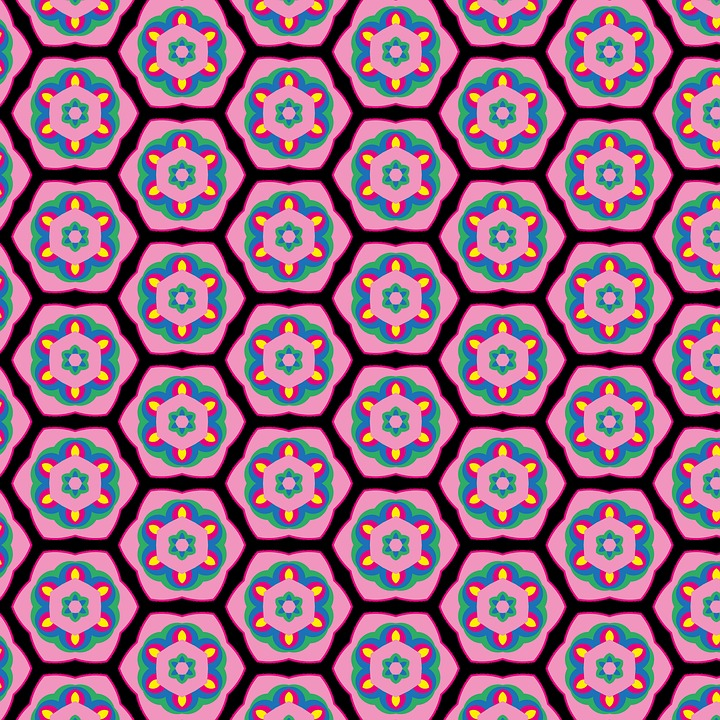 Background Pattern, Tile, Flower Pattern, Sun, Pattern