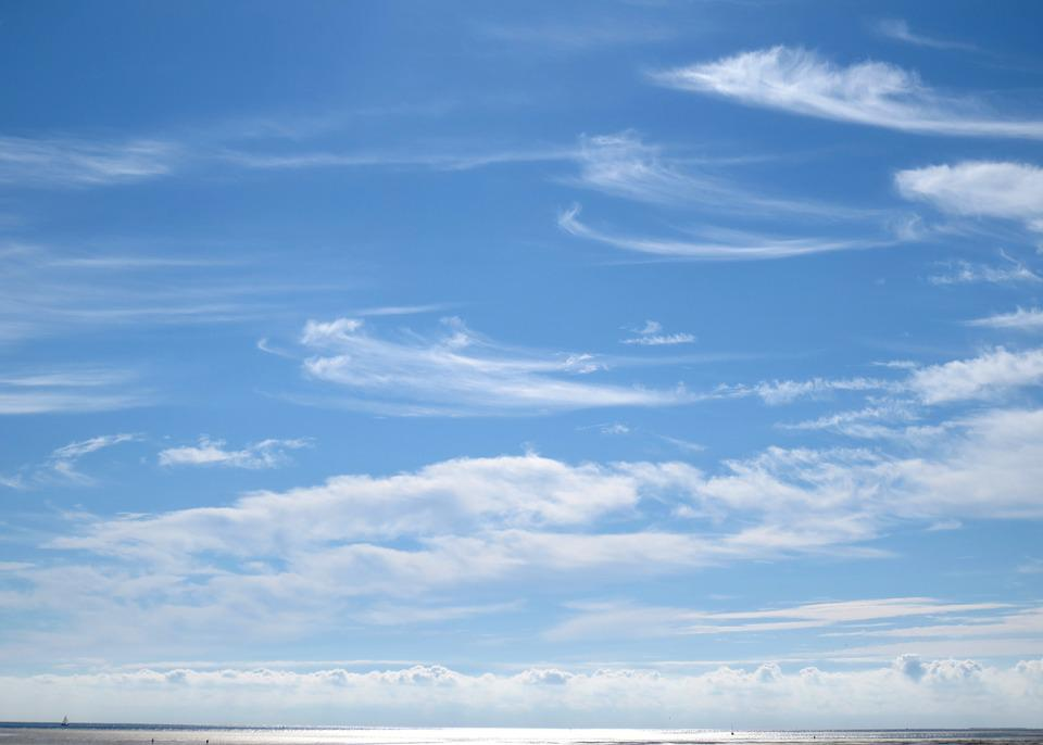 Clouds, Sea, Sun, Vision, Sky, Wind, Pattern, Horizon