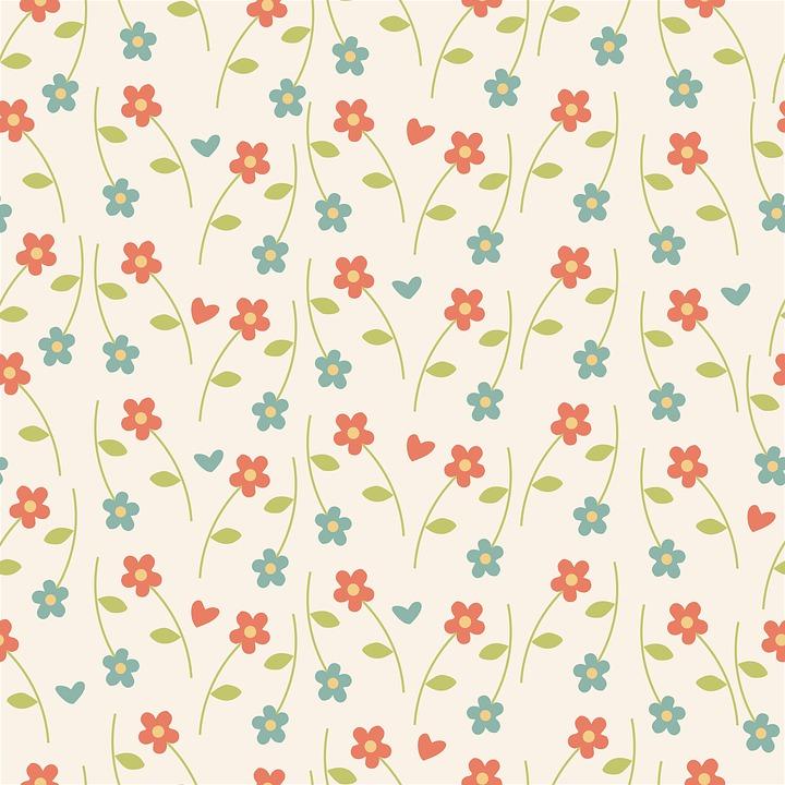 Floral, Pattern, Wallpaper, Retro, Vintage, Cute