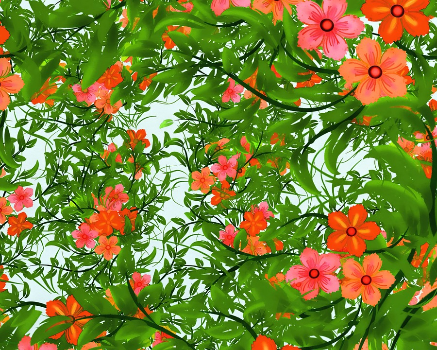Background, Backdrop, Patterns, Abstract, Flowers