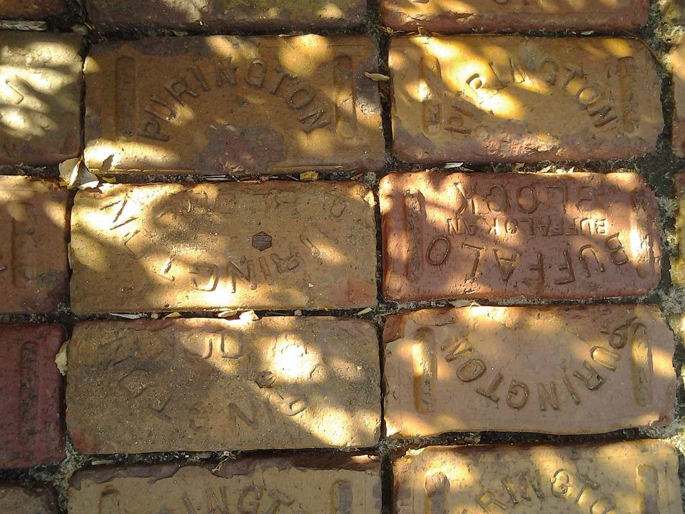 Bricks, Park, Memorial, Pathway, Walkway, Pavement