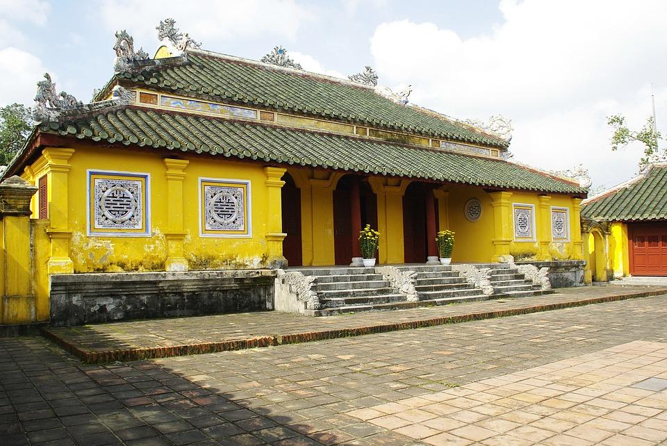 Viet Nam, Palace, Imperial, Pavilion, Architecture