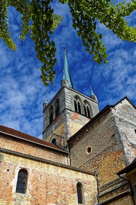 Church, Payerne, Romanesque, Switzerland, Abbey, Old