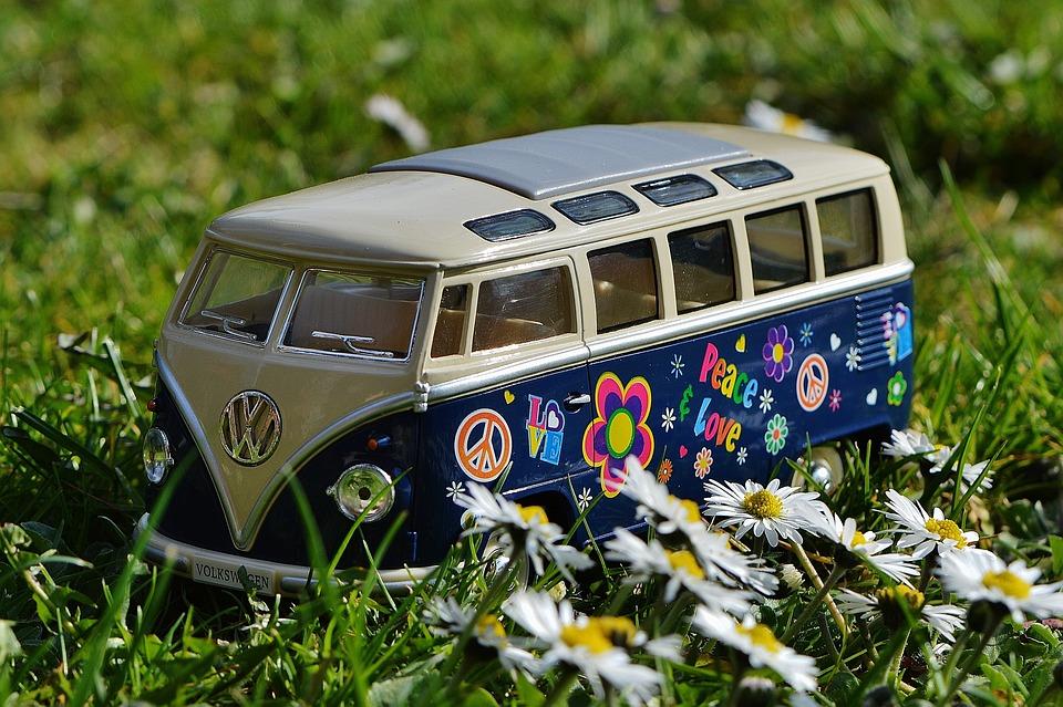 Vw, Bulli, Meadow, Peace, Vw Bus, Volkswagen, Camper