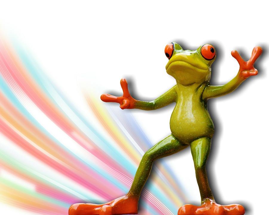 Frog, Gesture, Peace, Funny, Cute, Figure, Sweet