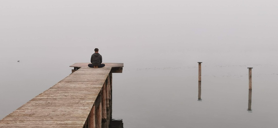 Meditate, Peace, Lake, Meditation At The Lake, Mood