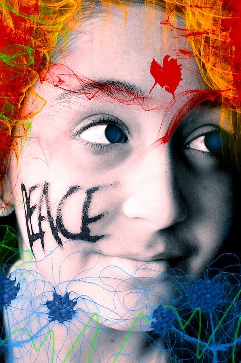Peace, Girl, Face, Portrait, Smile, Look, Face Girl