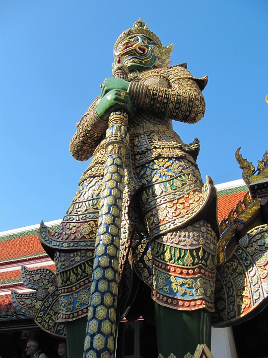 Thailand, Sculpture, Gold, Decoration, Worship, Peace
