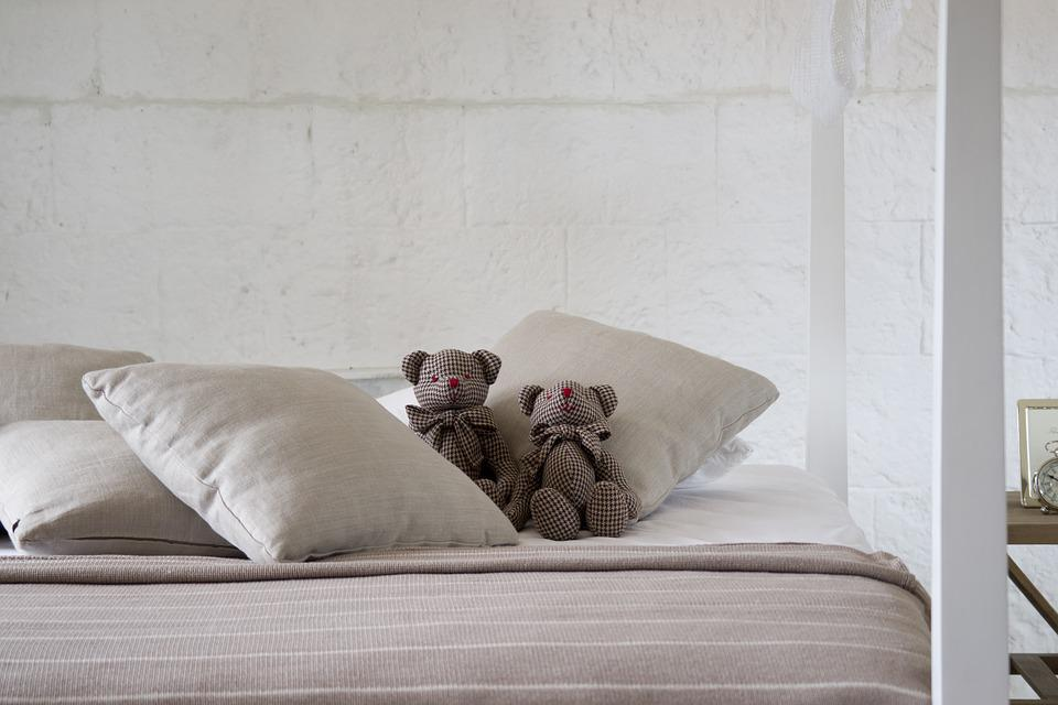 Bed, Sleep, Sheets, Room, Teddy Bear, Toy, Peace, Relax
