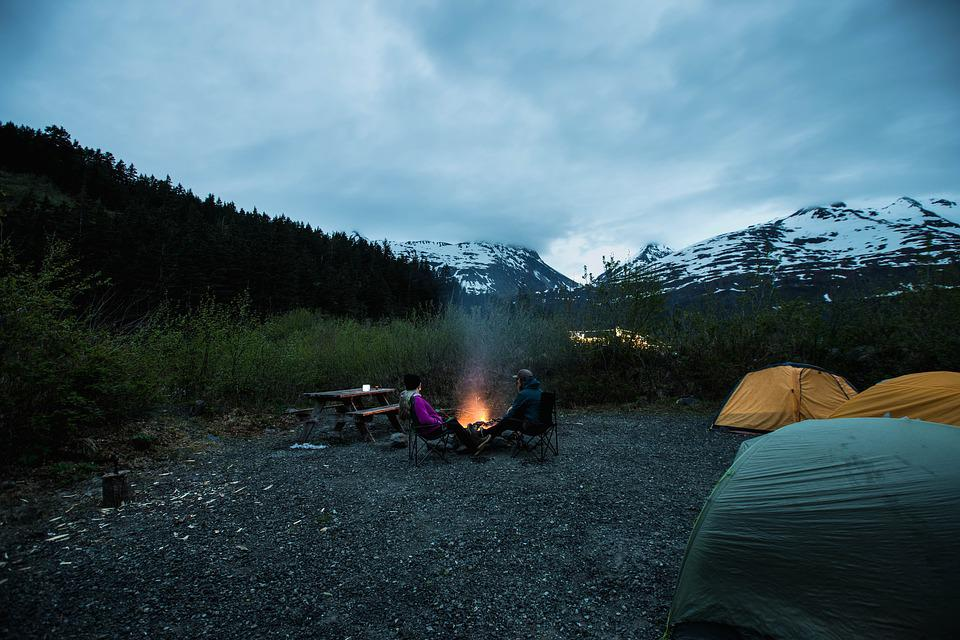 Alaska, Camping, Campfire, Peaceful, Outdoors