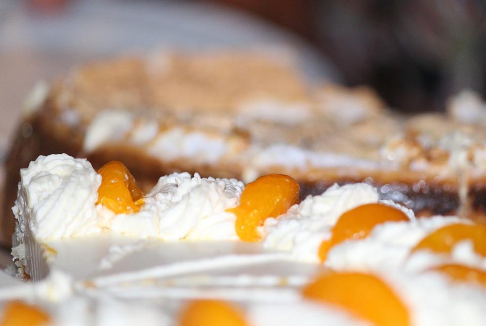 Cake, Cream Cake, Peach, Eat, Ornament, Cream, Dessert