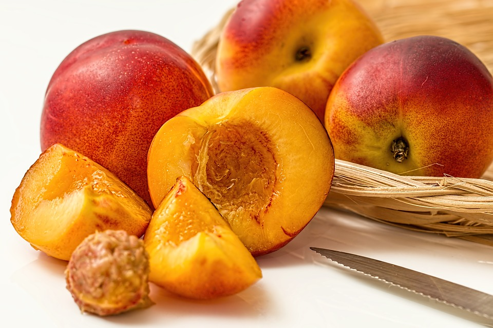 Peach, Fruit, Food, Slices, Produce, Organic, Natural