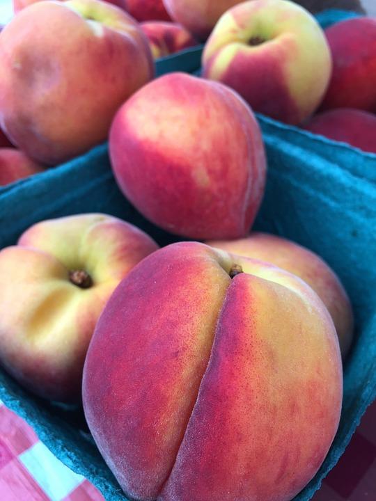 Peaches, Farmers Market, Ripe, Fruit, Fresh, Healthy