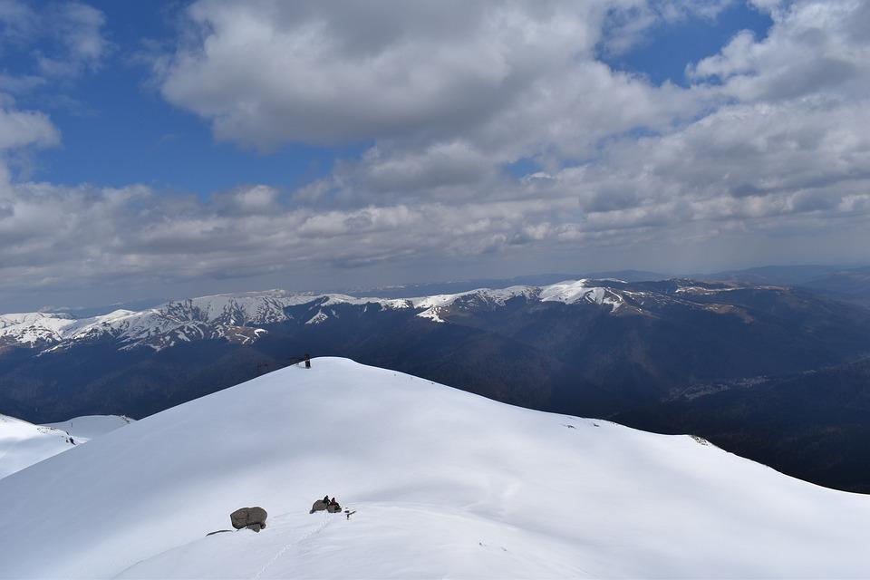 Mountains, Snow, Summit, Snowy, Winter, Fog, Peak