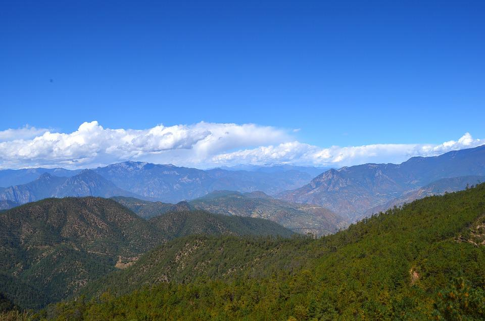 Blue Sky, White Cloud, Peaks And Ridges, Alpine