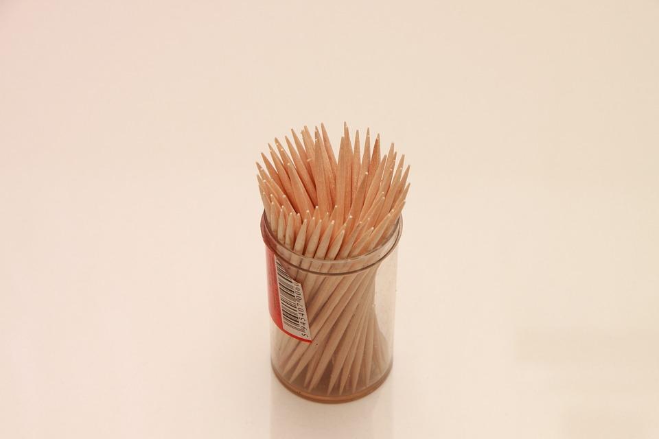 Peaks, Set, Sharp, Sticks, Toothpicks, Wood, Household