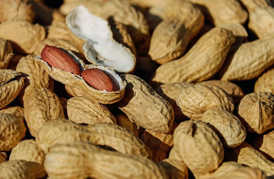 Nuts, Peanut, Roasted, Cores, Snack, Healthy, Delicious
