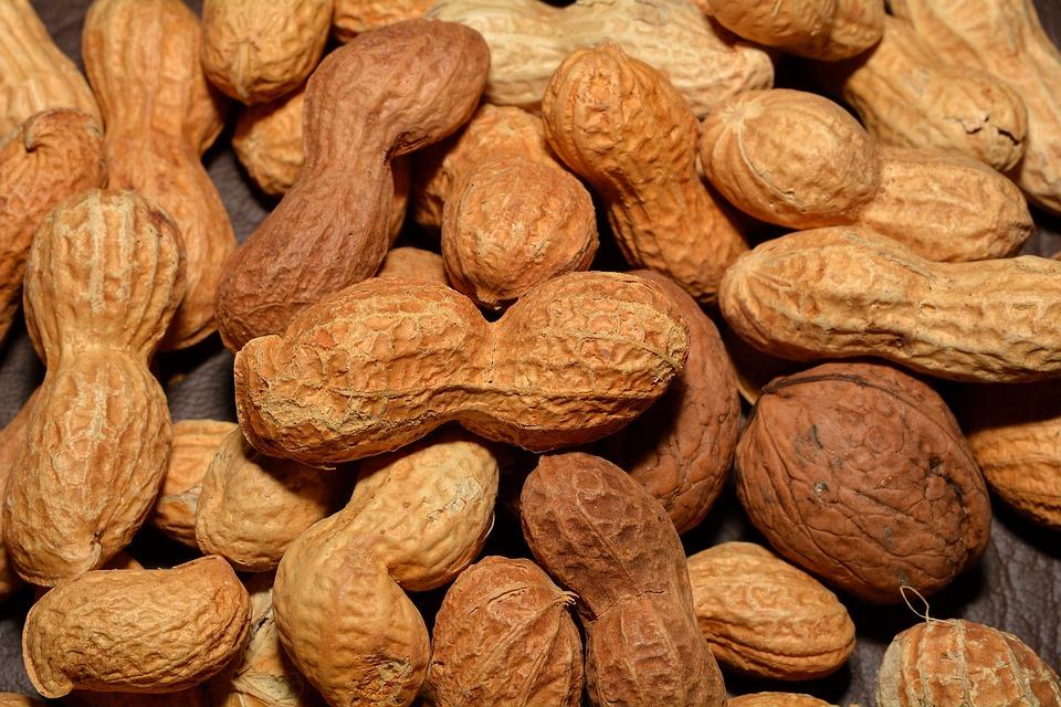 Peanuts, Nuts, Walnuts, Healthy, Nutrition, Close