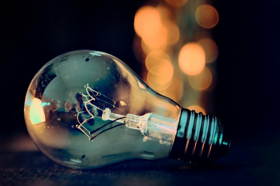 Light Bulb, Lights, Bokeh, Energy, Lamp, Current, Pear