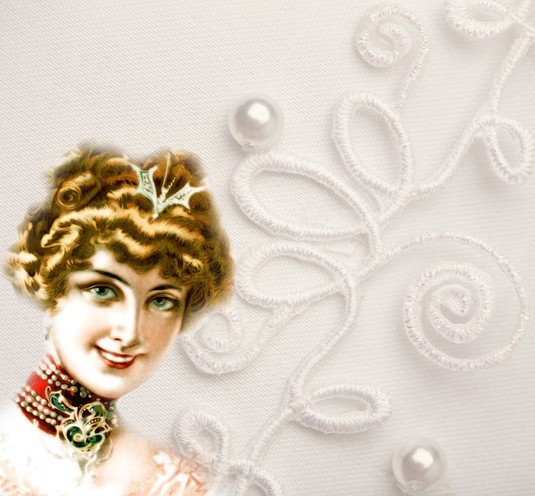 Bride, Woman, Girl, White Dress, Vintage, Pearls