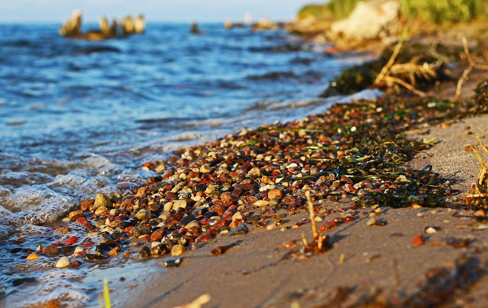 Walk On The Beach, Pebble Beach, Colorful Gravel