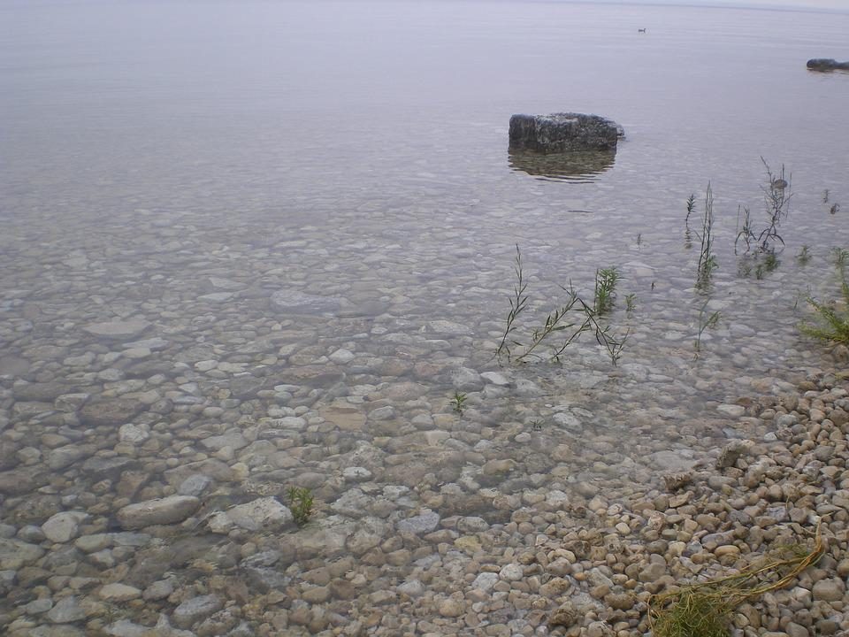 Pebbles, Stones, Water, Clear, Calm