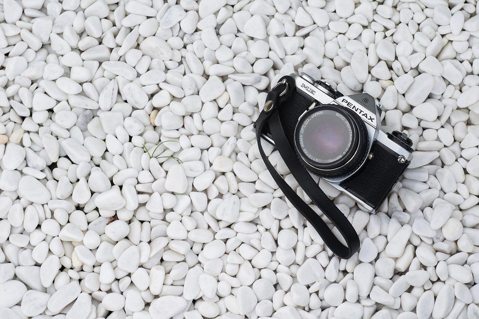 Camera, Pebbles, Rocks, Stones
