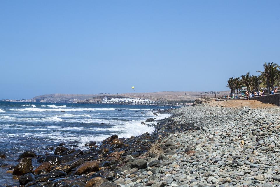 Gran Canaria, Pebbly Beach, Ocean, The Coast