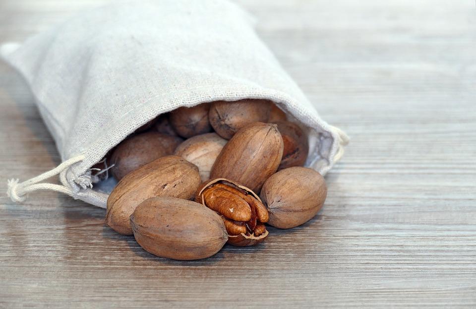 Pecans, Nuts, Carya Illinoinensis, Fruits, Food