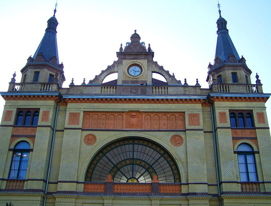 Train Station, Pecs, Architecture, Hungary