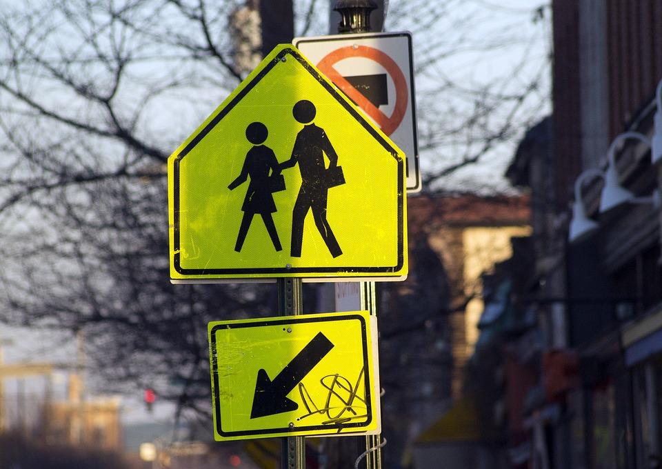 Sign, Traffic Sign, Walking Sign, Pedestrian, Walking