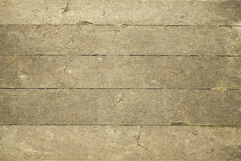 Concrete Slabs, Walk, Away, Concrete, Pedestrian Way