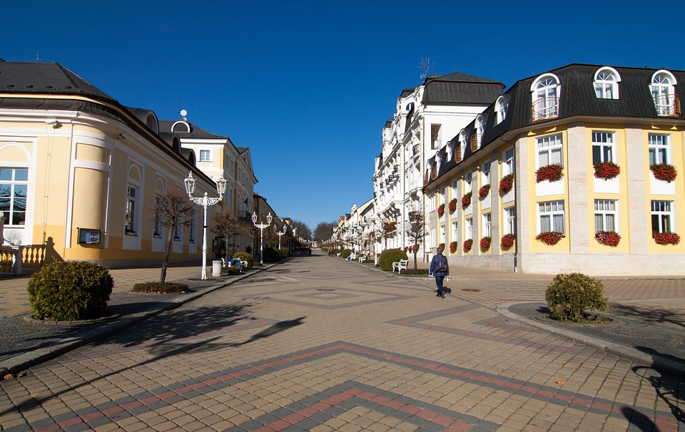 Lazne, Czech Republic, Flank, Pedestrian Zone, Building