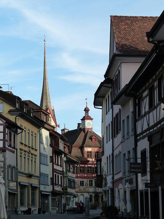 Stein Am Rhein, Pedestrian Zone, Town Hall, Homes