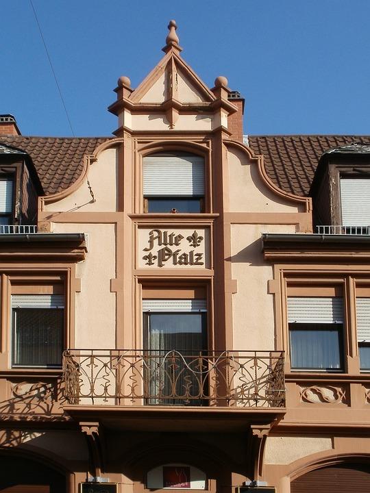Gable, Pediment, Schwetzingen, Balcony, Architecture