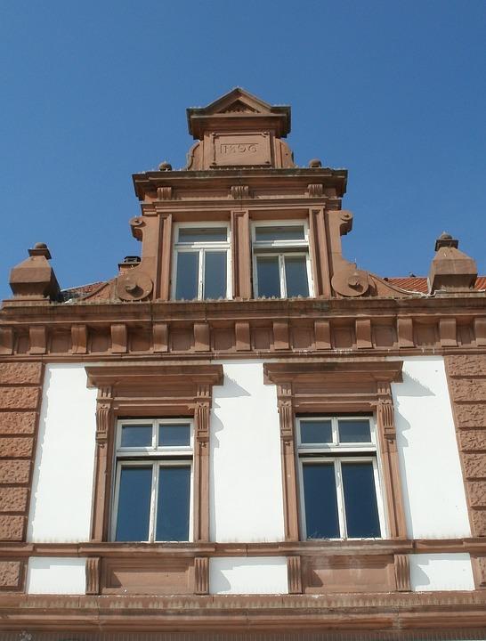 Gable, Pediment, Schlossplatz, Schwetzingen