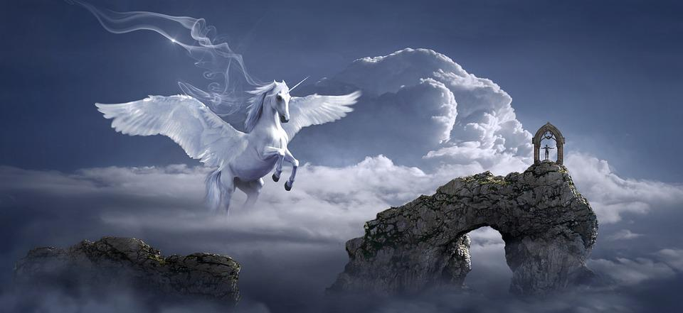 Free Photo Pegasus Fantasy Horse Archway Fairy Tales -1802