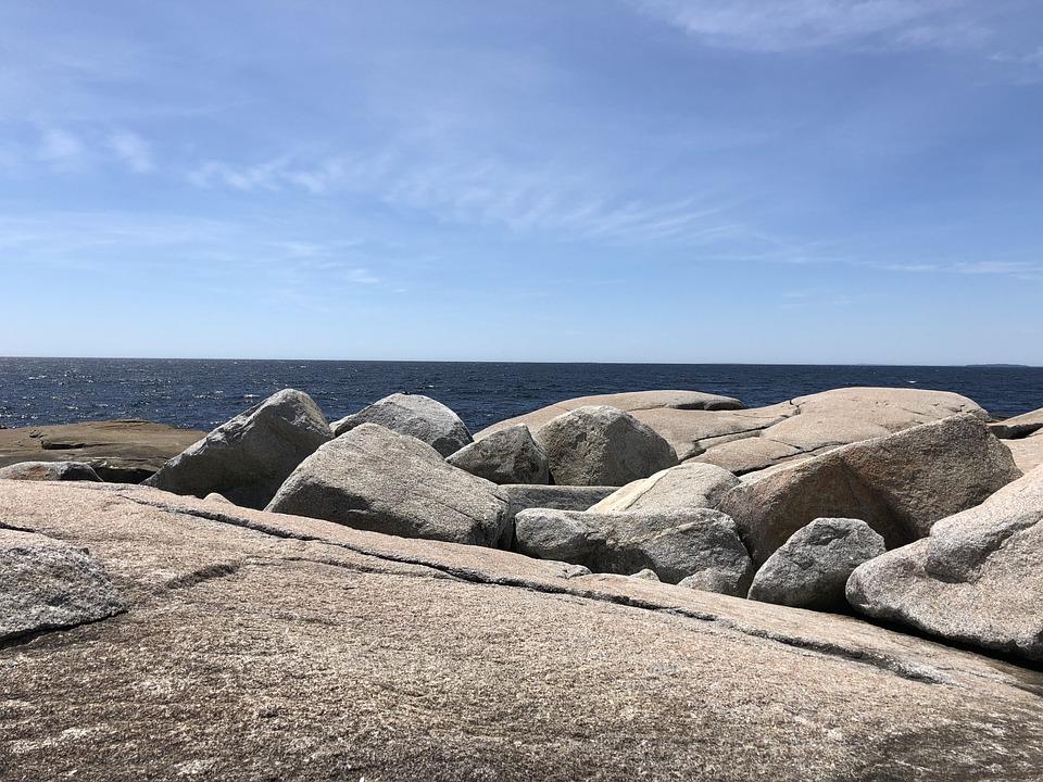 Rocks, Shoreline, Ocean, Halifax, Peggy's Cove, Beach