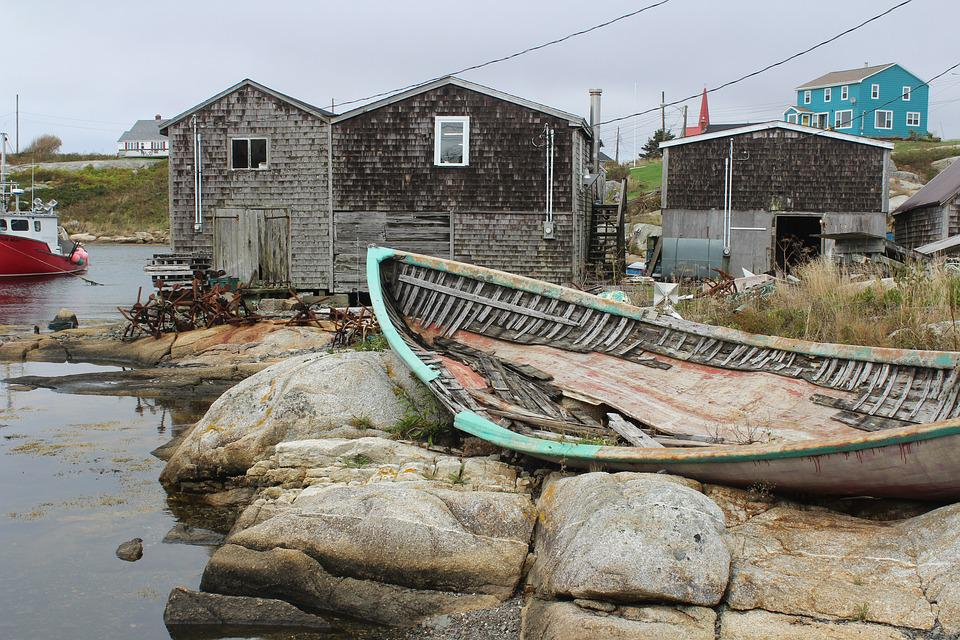 New England, Peggy's Cove, Lobster Boat, Fishing