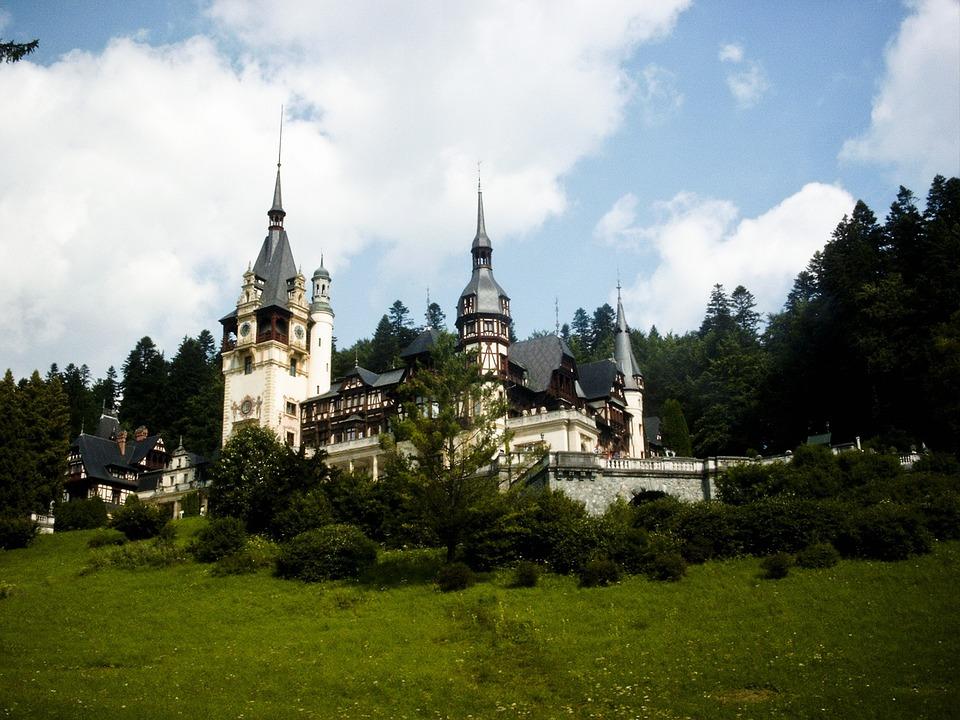 Castle, Romania, Peles, Transylvania, Old, Architecture