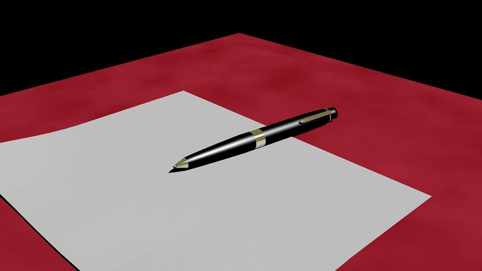 Filler, Writing Tool, Leave, Pen, 3d, 3dart, 3d Art