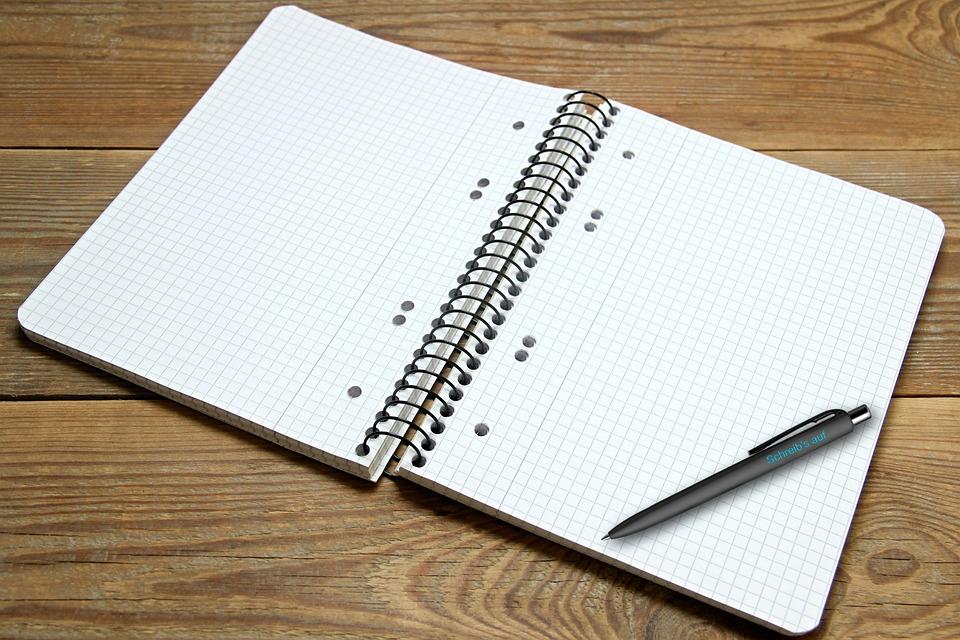 Book, Writing Pad, Notepad, Checkered, Pen, Write