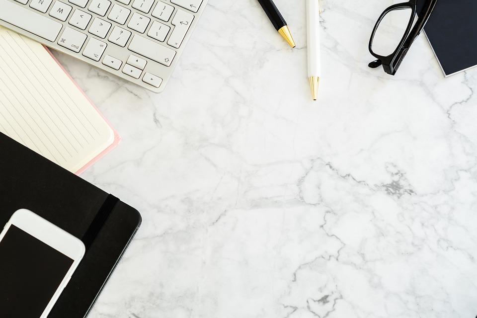Table, Workplace, Pen, Keyboard, Notebook, Work