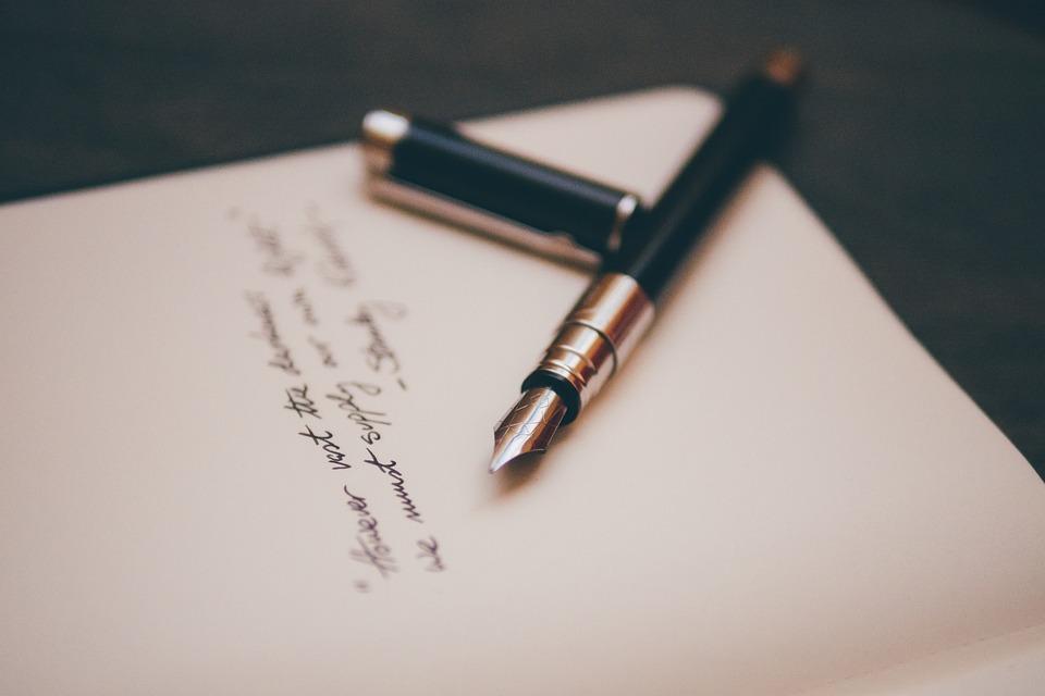 Fountain Pen, Notebook, Paper, Pen, Writing