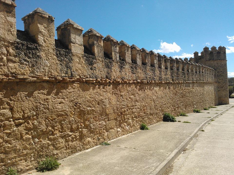 Wall, Castle, Peñaranda De Duero, Battlement
