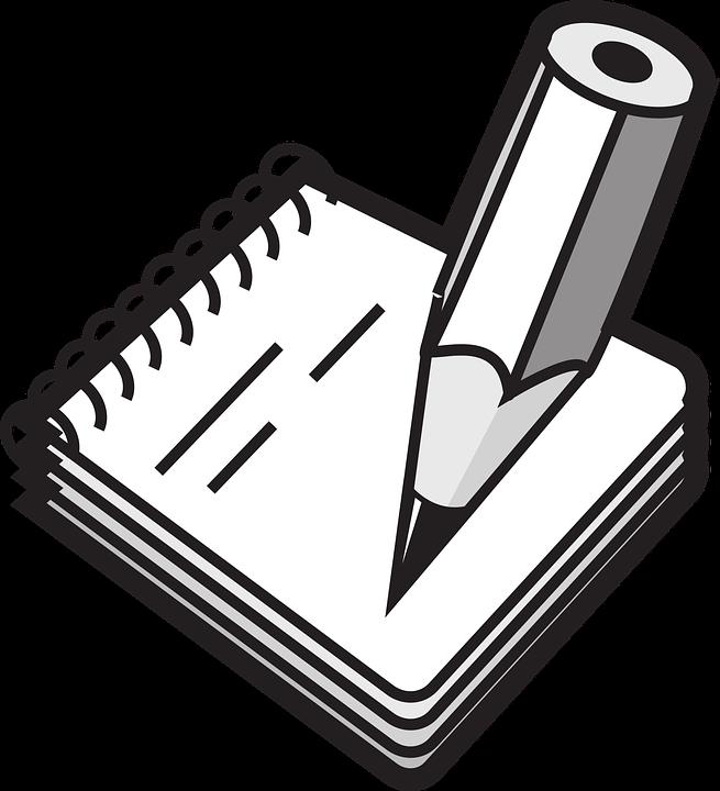 Bloc, Notes, Pencil, Rings