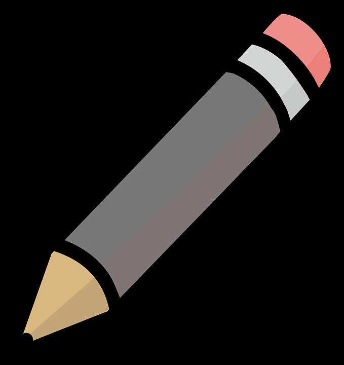 Basic, Gray, Grey, Icon, Pencil, Simple, Symbol
