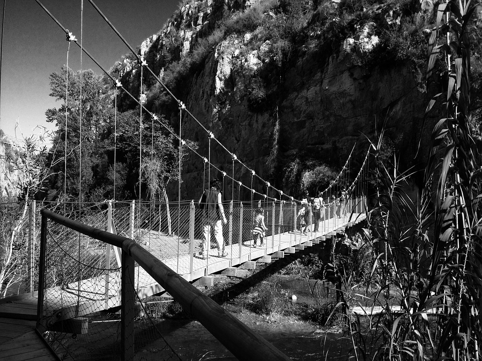 Bridge, River, Pendant, Gateway, Landscape, Mountain
