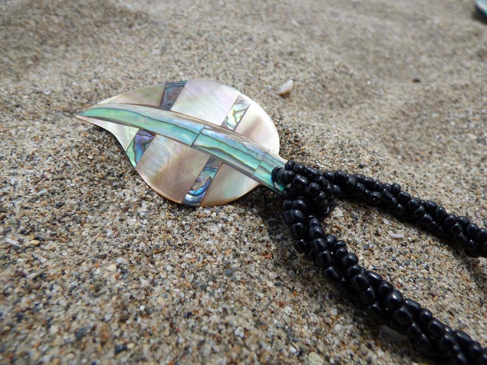 Pendants Of Mother-of-pearl, Beach, Jewellery, Beads